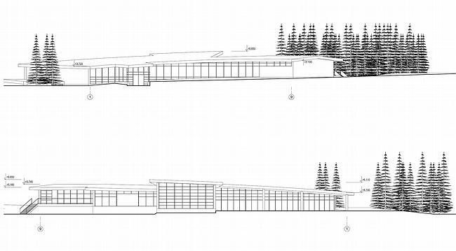 Дом 1, дом 2 для «курорта Пирогово».  Фасад 1 © Архитектурная мастерская Лызлова
