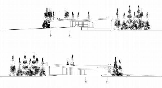 Дом 1, дом 2 для «курорта Пирогово».  Фасад 2 © Архитектурная мастерская Лызлова
