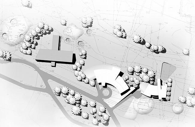 Дом 1, дом 2 для «курорта Пирогово». Генплан участка © Архитектурная мастерская Лызлова