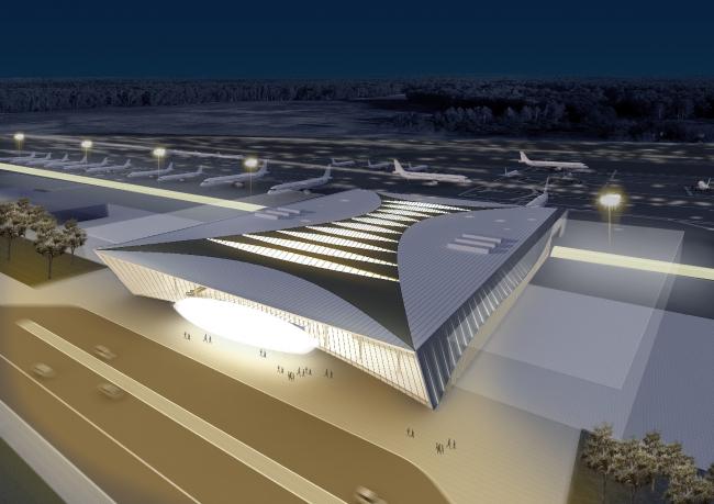 Концепция пассажирского терминала аэропорта «Центральный» в Саратове © Архитектурное бюро Асадова