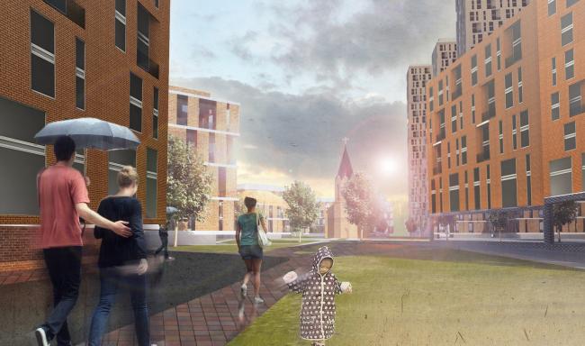 Концепция реконструкции жилого квартала в центре Уфы © ПТАМ Виссарионова