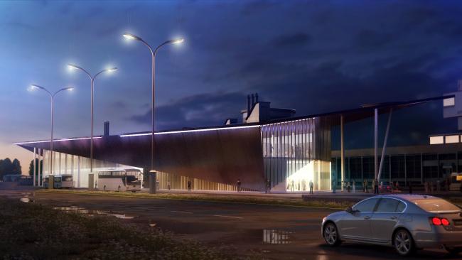 Проект автовокзала в Архангельске © ПТАМ Виссарионова