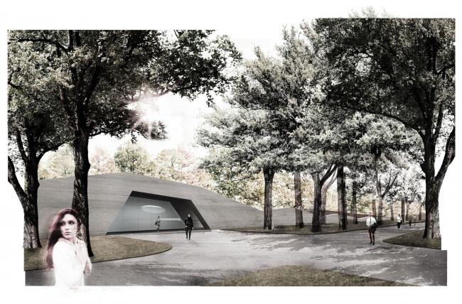 Сад 21 века с выставочным павильоном в ансамбле Лазенки © Mecanoo
