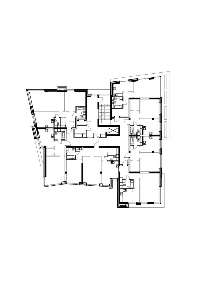 Жилой комплекс «Олимпийская деревня Новогорск. Квартиры». План © Архитектуриум