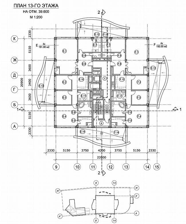 План 13 этажа