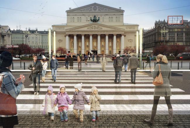 Площадь Революции. Концепция реорганизации. © Wowhaus. Изображение с сайта moskr.ru