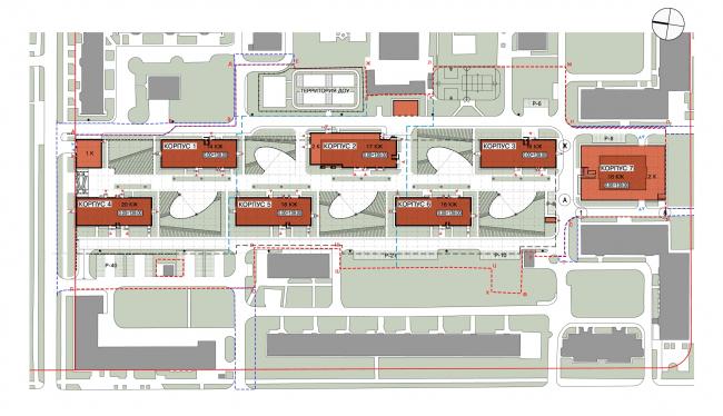 Доработанный генплан, вариант 2013 года © Архитектурная мастерская «Сергей Киселев и Партнеры»