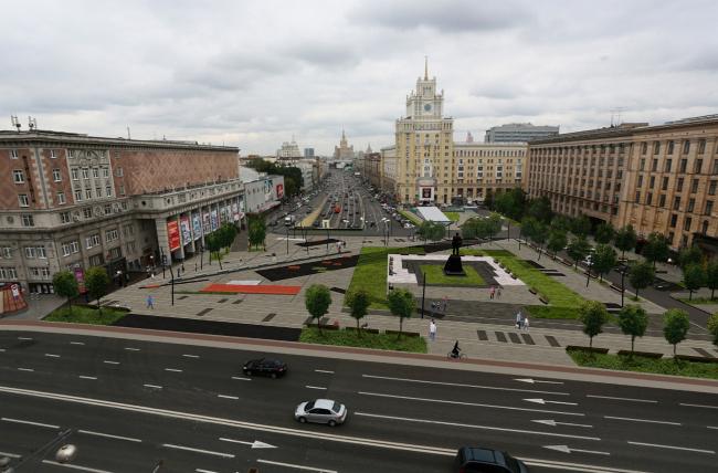 Концепция благоустройства Триумфальной площади, «Проектная компания Трио». Визуализация. Изображение с сайта moskr.ru