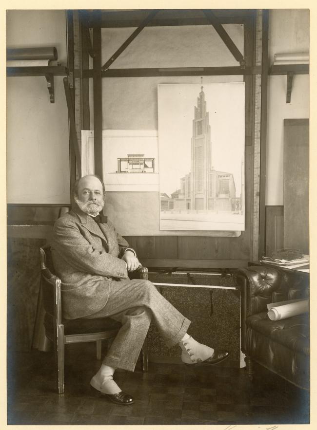 Огюст Перре. 1925  © CNAM/SIAF/CAPA, Archives d'architecture du XXe siècle/Auguste Perret/UFSE/SAIF