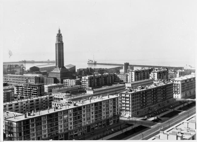 Гавр. Вид на церковь Св. Иосифа © CNAM/SIAF/CAPA, Archives d'architecture du XXe siècle/Auguste Perret/UFSE/SAIF