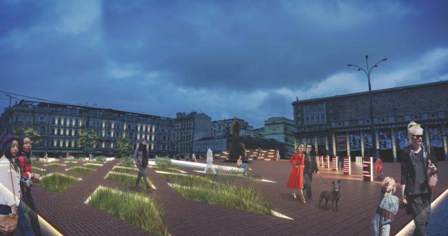 Концепция реорганизации Триумфальной площади © Wowhaus