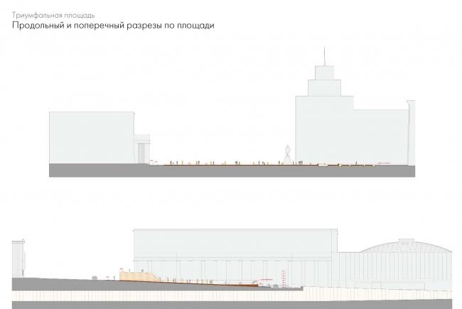 Концепция реорганизации Триумфальной площади в Москве © Wowhaus