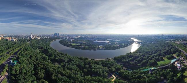 Панорама Воробьевых гор. Источник: loveopium.ru