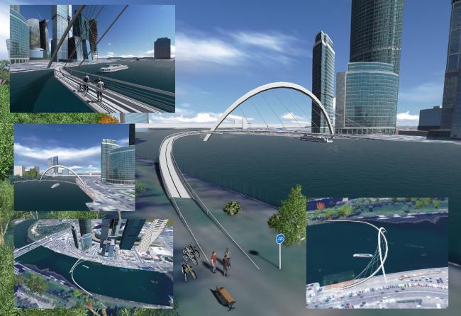 Проект «Мост «Сити»». Авторы – Сергей Шкёпу, Денис Варан. Изображение с сайта moscowidea.ru