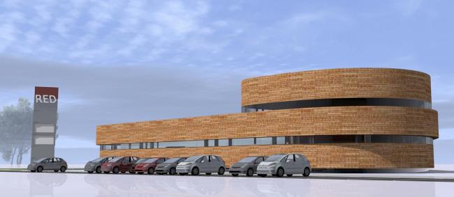 Торговый центр «Авангард». Вариант решения фасадов. Архитектурная мастерская «Архстройдизайн»