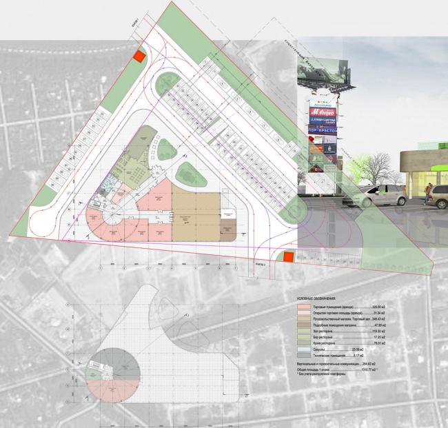 Торговый центр «Авангард». Генплан. Архитектурная мастерская «Архстройдизайн»