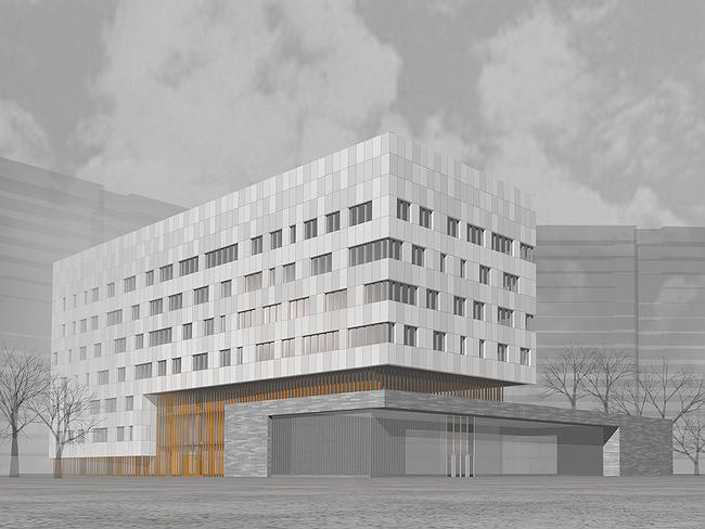 Административное здание на ул. Профсоюзной, 108-110. Проект, 2006 © ADM