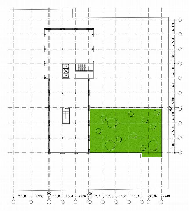 Административное здание на ул. Профсоюзной, 108-110. План типового этажа. Проект, 2006 © ADM