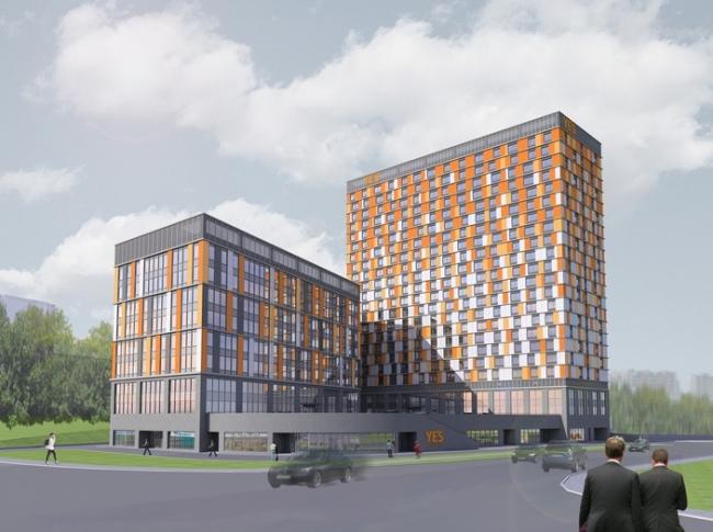 Многофункциональный комплекс с апарт-отелем YE`S. Изображение с сайта 2013.urbanawards.ru