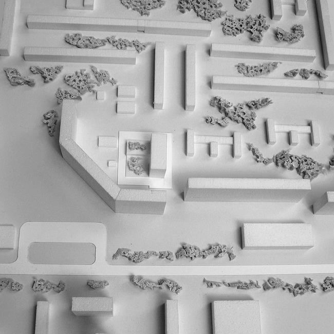 Административное здание на ул. Профсоюзной, 108-110. Макет. Проект, 2006 © ADM