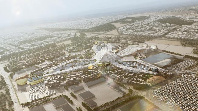 Мастерплан комплекса Экспо-2020 © HOK