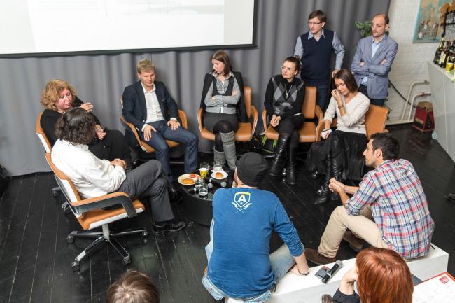 Дискуссия в Roof Point. Фото предоставлено T+T Architects