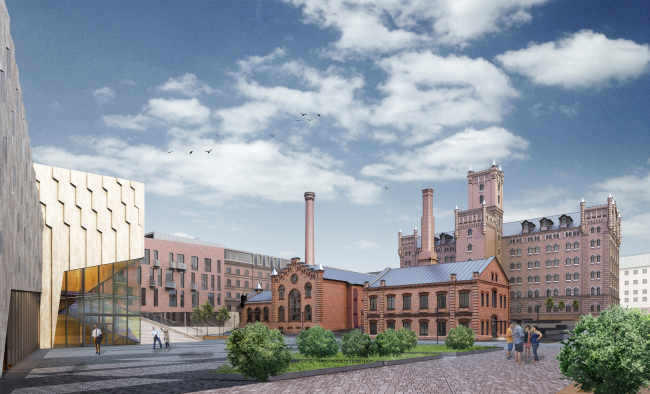"""Architectural and town-planning concept of reconstruction and renovation of the territory of """"Saratov Muka"""" Factory"""