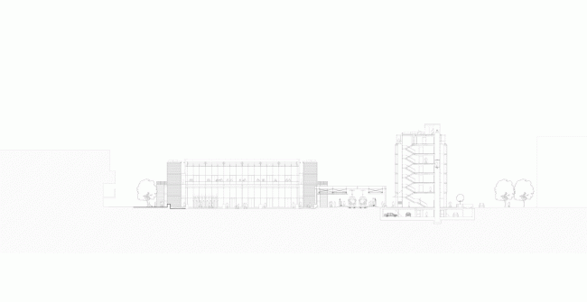 Новый общественный центр и станция скоростного трамвая © RSHP - Rogers Stirk Harbour + Partners