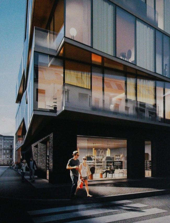Эскизный проект строительства гостиничного комплекса в самом центре Москвы по адресу: Курсовой переулок, владение 10/1. Проектировщик – Scott Brownrigg, заказчик – ООО «Атлант»