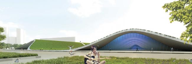 Концепция парка на Ходынском поле. Хоумленд Архитектура (Россия, Москва). Иллюстрации: park-khodynka.com