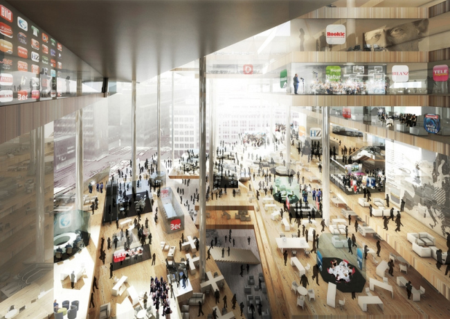 Новое здание издательского дома Axel Springer. Конкурсный проект © ОМА