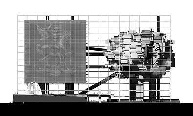 Здание Мэрии Москвы, конкурсный проект, III место © ТПО «Резерв»