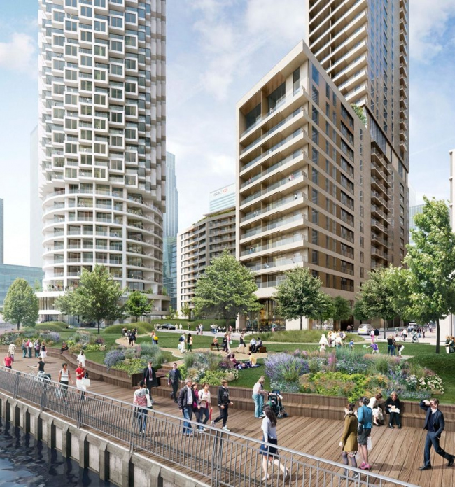 Жилая башня в комплексе Вуд-ворф © Canary Wharf Group plc