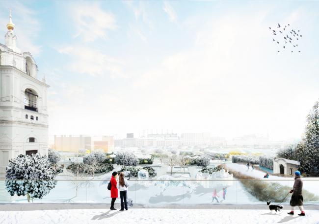 Видовая площадка. Парк «Зарядье». Проект. © Консорциум MVRDV. Изображения предоставлены бюро Атриум