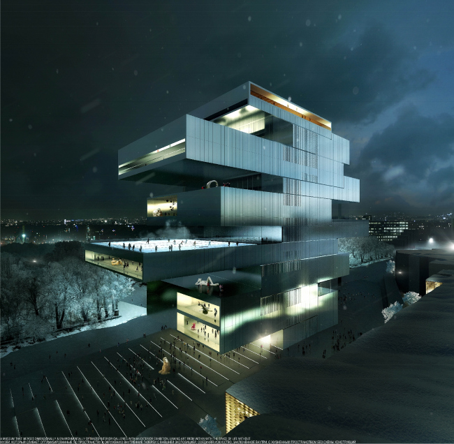 Новый ГЦСИ. Heneghan Peng Architects. Материалы предоставлены организаторами конкурса