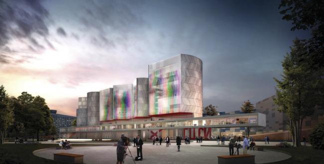 Музейно-выставочный комплекс ГЦСИ. Конкурсный проект Nieto Sobejano Arquitectos. Материалы предоставлены пресс-службой ГЦСИ.