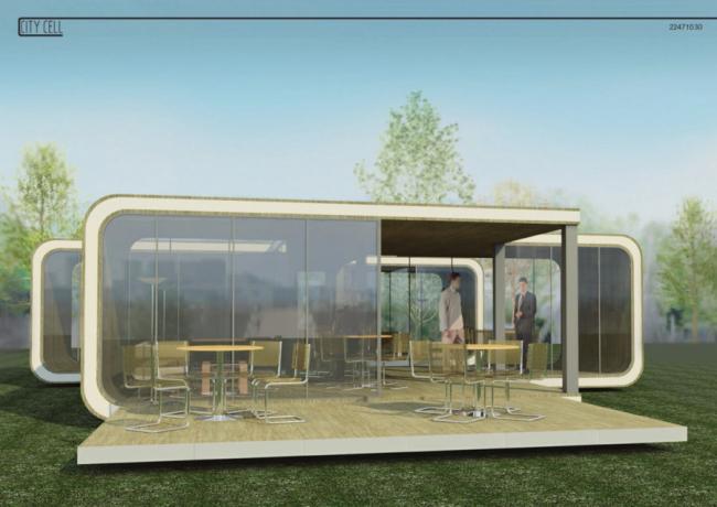 Пример модульного дома, конкурсная работа прошлого года. Иллюстрация: www.rmodul.com