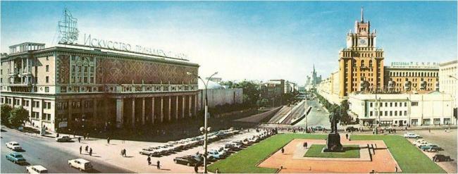 Триумфальная площадь, 1950-е годы. Материалы предоставлены организаторами