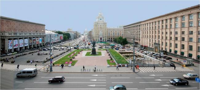Вид на Триумфальную площадь со стороны Тверской улицы. Материалы предоставлены организаторами