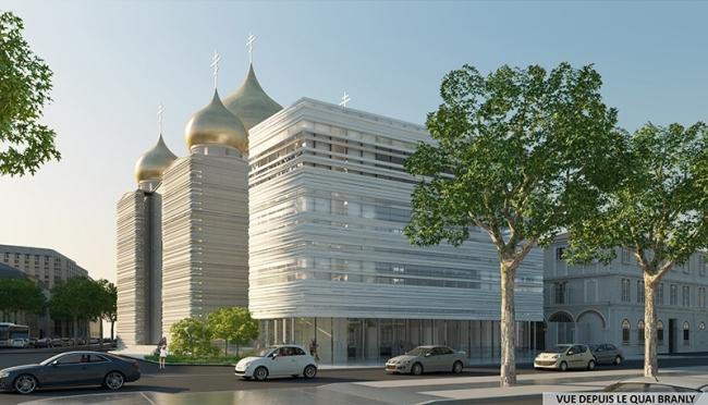 Русский духовно-культурный центр в Париже. Вид со стороны набережной Бранли © Wilmotte&Associés SA
