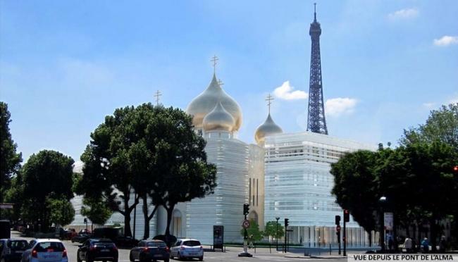 Русский духовно-культурный центр в Париже. Вид со стороны моста Альма © Wilmotte&Associés SA