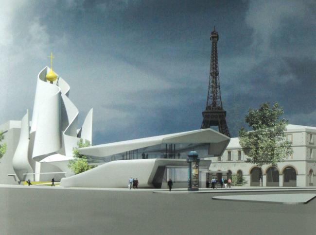 Русский духовно-культурный центр в Париже. Конкурсный проект Фредерика Бореля 2011 г., 3 место © Фредерик Борель