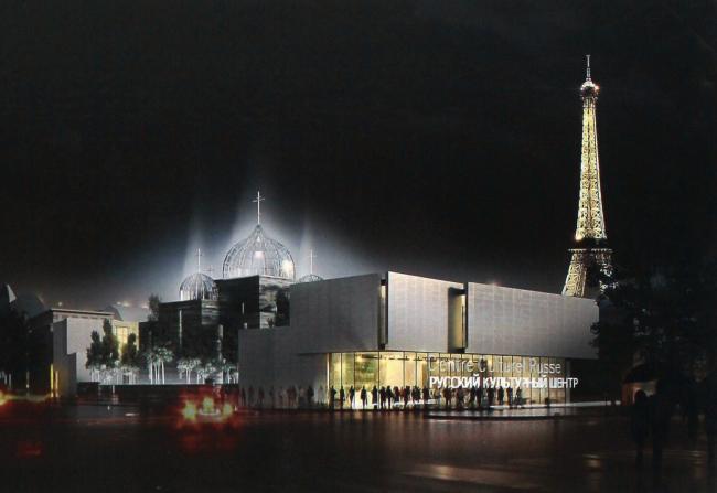 Русский духовно-культурный центр в Париже. Конкурсный проект Ж.-М. Вильмотта 2011 г., 2 место © Wilmotte&Associés SA