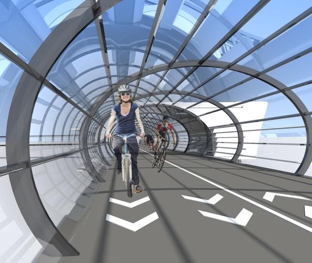 Проект велополитена в Казани © «Архитектурная мастерская Артура Айтбагина»