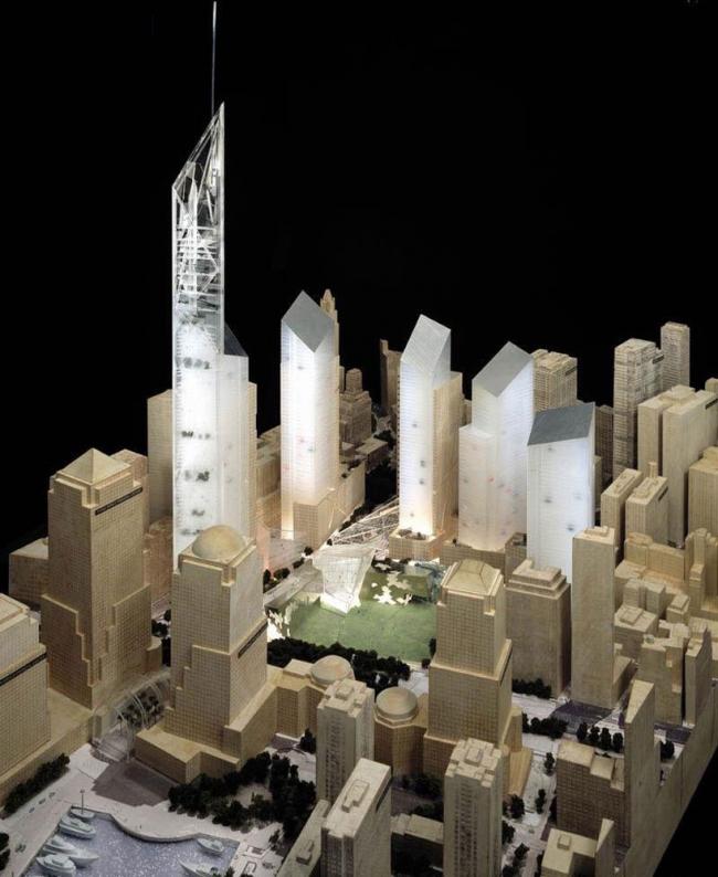 Всемирный торговый центр – генплан. Начальный вариант © J Poddle