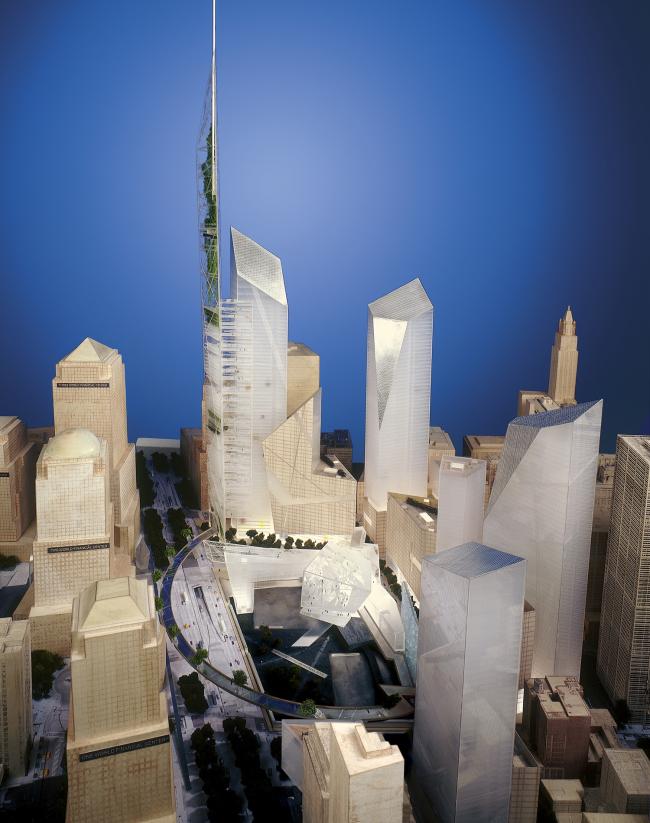 Всемирный торговый центр – генплан. Начальный вариант © SDL