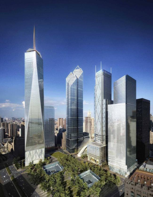 Всемирный торговый центр – генплан. Окончательный вариант (2006) © Silverstein Properties