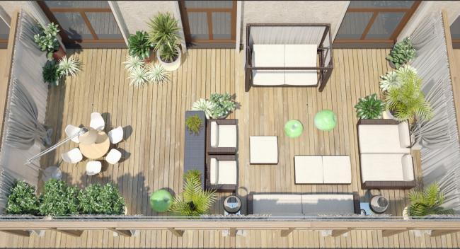 Внутренний двор апартаментов