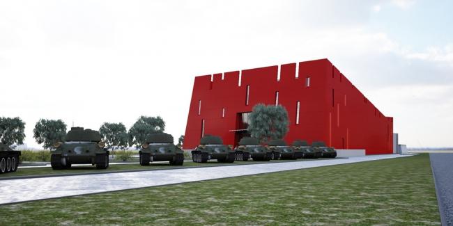 Проект музейного комплекса «История танка Т-34» © ГУП «Моспроект-2 им. М.В.Посохина»