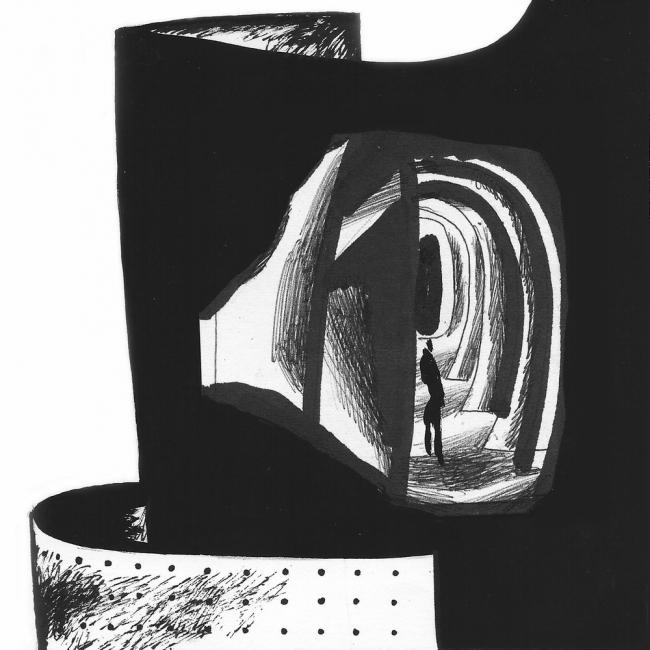 Серия «Пространство Музея геологии». Победитель в номинации «Рисунок к проекту», 37 голосов © Роман Фаерштейн